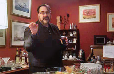 Mixology instructor explains how to mix a beverage