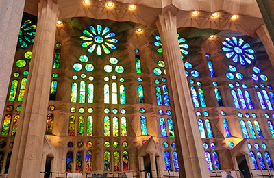 Stained Glass windows by Gaudi.